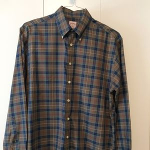 Brooks Brothers 346 Non-Iron Plaid Sport Shirt